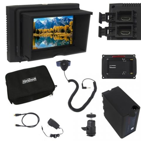 VariZoom VZ-M5K Monitor Deluxe Kit with Sunhood/Screen Protector by VariZoom