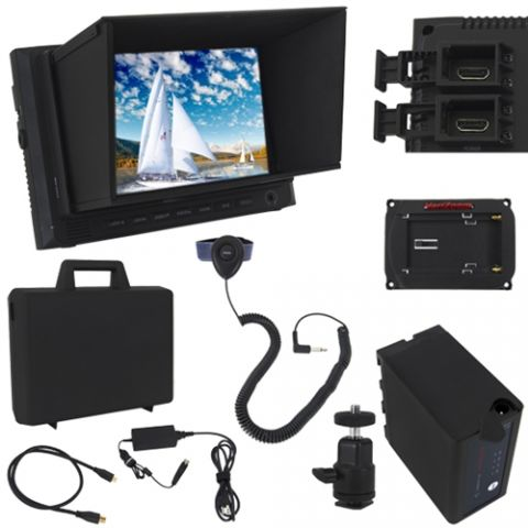 VariZoom VZM7 Monitor Deluxe Kit with Sunhood/Screen Protector by VariZoom