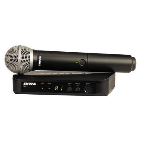 Shure BLX24/PG58 Vocal Wireless System, Includes BLX2 Handheld Transmitter with PG58 & BLX4 Single-Channel Wireless Receiver, J10: 584 - 608 MHz  by Shure