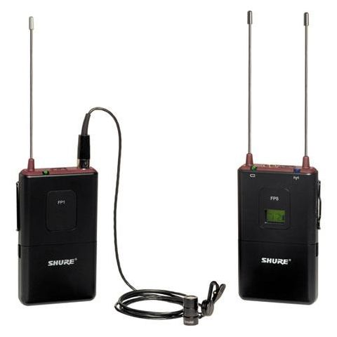 Shure FP15/83-J3 FP Wireless Bodypack System with FP5 Diversity Receiver, FP1 Bodypack Transmitter, WL183 Lavalier Microphone, J3 / 572 - 596MHz  by Shure
