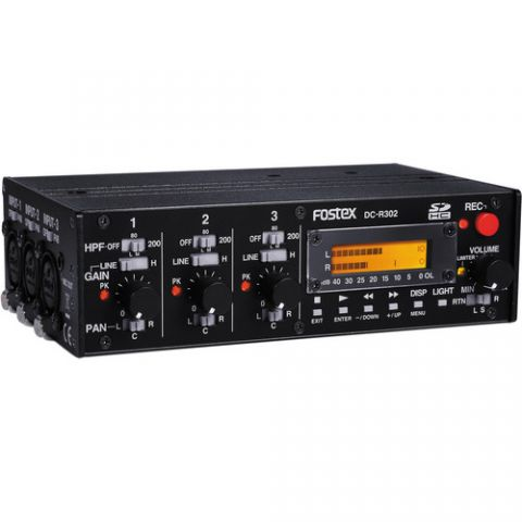 Fostex DC-R302 3-Channel Audio Mixer and Stereo Recorder by Fostex