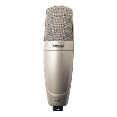 Shure KSM32 Embossed Single-Diaphragm Microphone with Aluminum Case, Champagne  by Shure