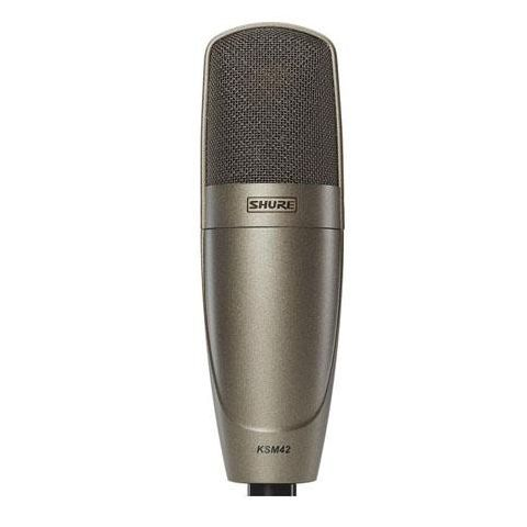 Shure KSM42 Large Dual-Diaphragm Side-Address Condenser Vocal Microphone, Sable Gray  by Shure