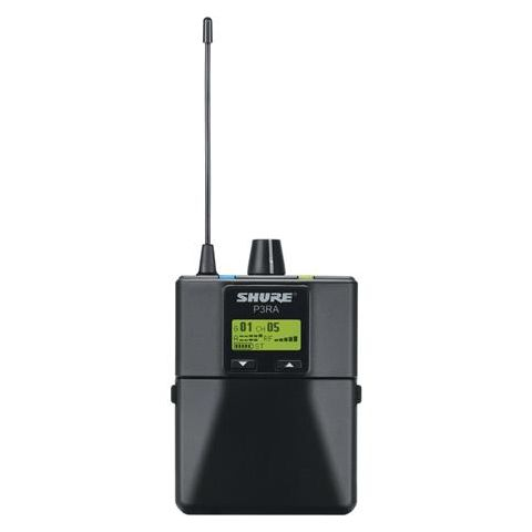 Shure P3RA Professional Wireless Bodypack Receiver for PSM 300 Monitor System, G20:488-512MHz  by Shure
