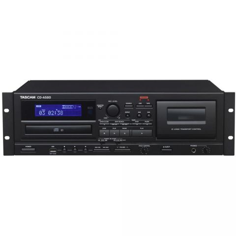 Tascam CD-A580 CD PLAYER/CASSETTE RECORDER WITH USB DUBBING by Tascam