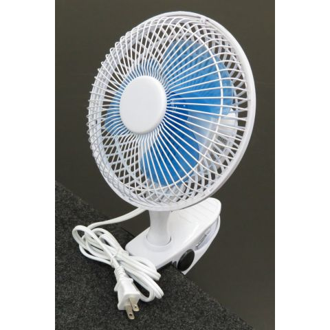 """ClearSonic FAN 6"""" 2-speed clip-on Fan 110v (Clips on to SORBER or Acrylic) by ClearSonic"""