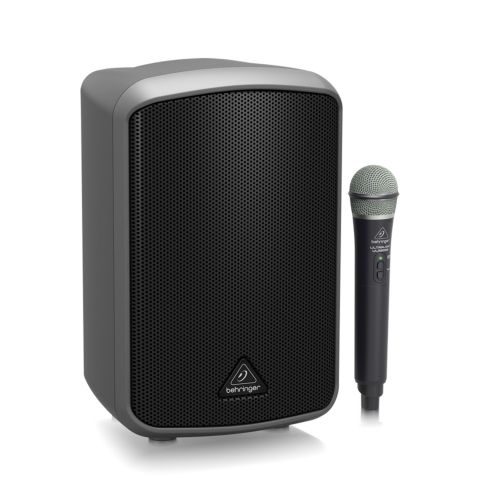 Behringer MPA100BT All-in-One Portable 100-Watt Speaker with Wireless Microphone, Bluetooth Connectivity and Battery Operation by Behringer