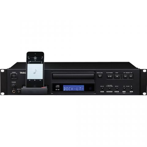 Tascam CD-200iL Professional CD Player with 30-Pin and Lightning iPod Dock by Tascam