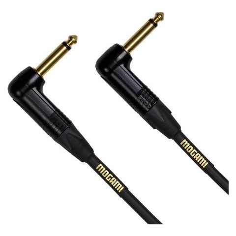 "Mogami GOLD INSTRUMENT 25RR   Instrument Cable, 1/4"" Angled male to 1/4"" Angled male (25') by Mogami"