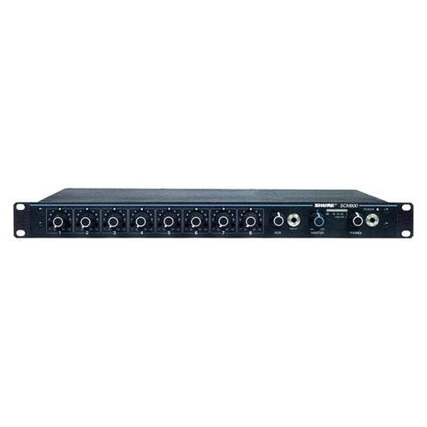 Shure SCM800 8 Channel Microphone Mixer with Adjustable EQ Per Channel, 120 V AC Power, Aux Input  by Shure