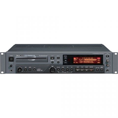 Tascam CD-RW901SL - Rack Mount Slot-Loading CD Recorder with MP3 Playback and Analog/Digital XLR Connectors  by Tascam