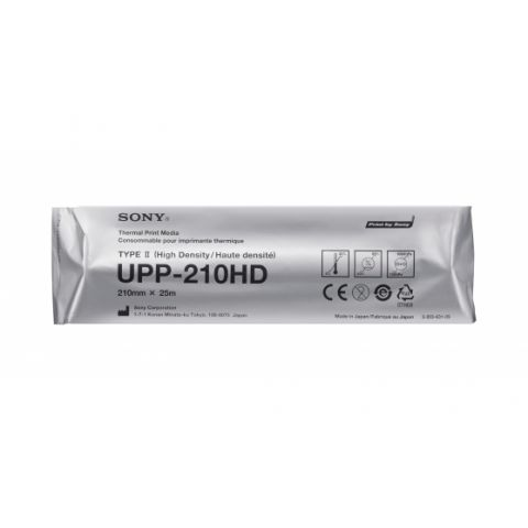 Sony UPP-210HD High density black and white thermal print media for UP-991AD / 990AD / 980AD / 971AD / 970AD / 960AD / 930AD / 910AD medical printers by Sony
