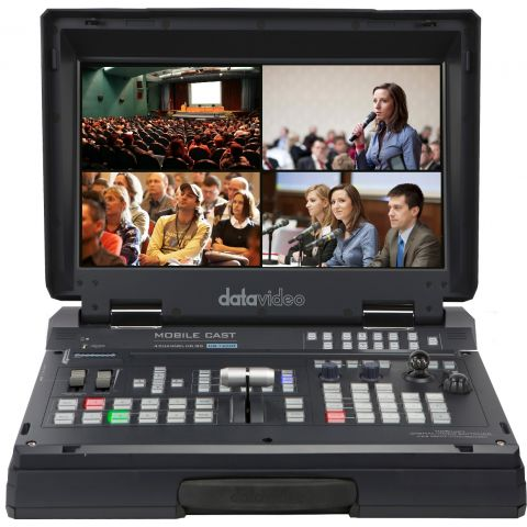 Datavideo HS-1500T HD/SD 4-Channel HDBaseT Portable Video Studio by Datavideo