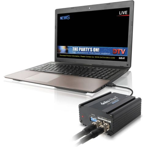 Datavideo PCR-200 SD/HD TC-200 with CG-200 Installed HP Probook Laptop by Datavideo