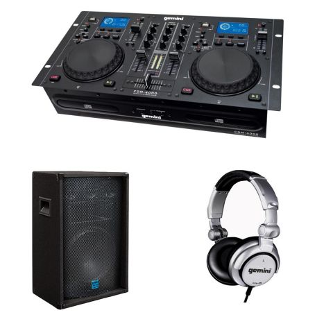 Gemini CDM-4000 DJ Gear Package by Gemini