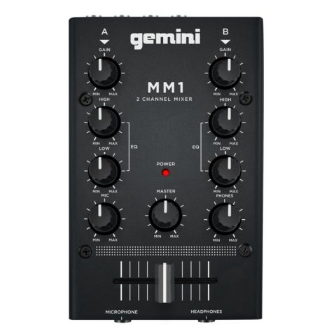 Gemini MM1 2-Channel Compact Mixer by Gemini