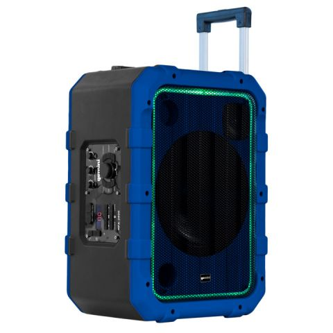 Gemini MPA-2400BLU Rechargeable Weather-resistant Trolley Bluetooth Speaker, Blue by Gemini