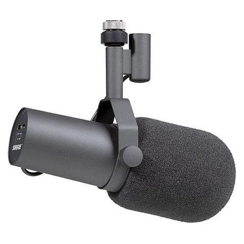 Shure SM7B Cardioid Dynamic Studio Vocal Microphone, with Standard & Close-Talk Windscreens  by Shure