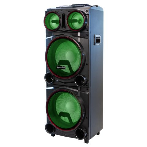 "Gemini GMAX-6000 Dual 15"" Bluetooth Led Party Speaker by Gemini"
