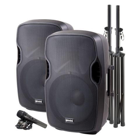 Gemini PS-SYS15 Dual Speaker PA Package by Gemini