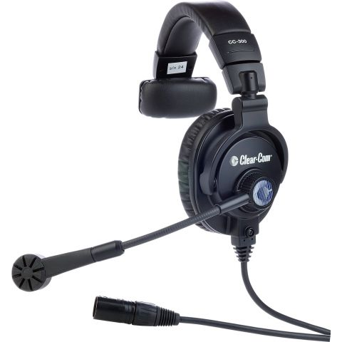 Clear-Com CC-300-X4 Single-Ear Headset with 4-Pin XLR-F Connector by Clear-Com