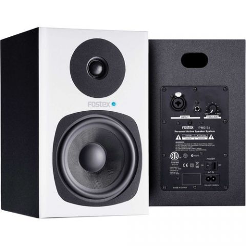 Fostex PM0.5d Personal Active Studio Monitors (White, Pair) by Fostex