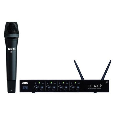 AKG Acoustics DMSTetrad Vocal Set P5 Wireless System, Includes DSRTetrad Receiver, DHTTetrad Handheld Transmitter P5, Stand Adapter and 2x Detachable Antennas  by AKG