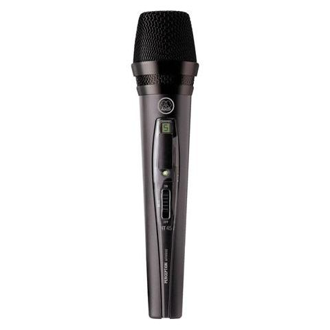 AKG Acoustics HT45 Perception Handheld Wireless Cardioid Microphone Transmitter for Use with Perception SR 45 Receiver, Frequency A: 530-560MHz  by AKG