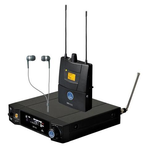 AKG Acoustics IVM4500 Reference Wireless IEM System, 50mW Output Power, Band 1: 650.1-680.5MHz, Includes SST4500 Transmitter, SPR4500 Receiver, IP2 Headphones  by AKG
