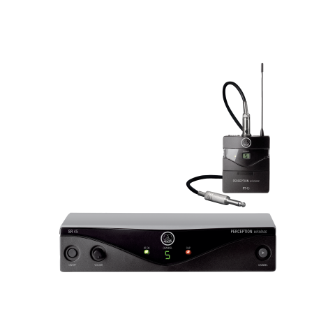 AKG Acoustics Perception Wireless 45 Instrumental Set, Includes SR45 Receiver, PT45 Transmitter, Universal Power Supply, Instrument Cable, Band U2 (614 to 634MHz)  by AKG