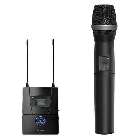 AKG Acoustics PR4500 ENG Set HT Reference Wireless System, Includes PR4500 ENG Diversity Receiver, HT4500 Transmitter, D5 WL1 Mic Head, Band 8 570-600MHz  by AKG