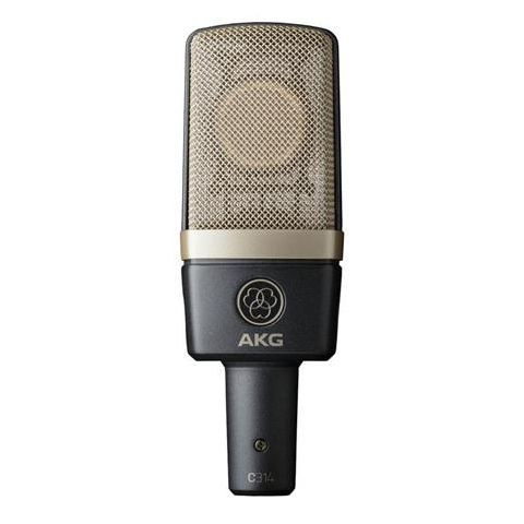 AKG Acoustics C314 Professional Multi-pattern Condenser Microphone, 20-20000Hz, Matched Pair  by AKG