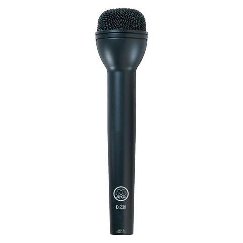 AKG Acoustics D230 Omnidirectional Handheld Dynamic ENG Microphone, 30-20000Hz Frequency Response, 600 Ohms Impedance, 3-pin Male XLR  by AKG