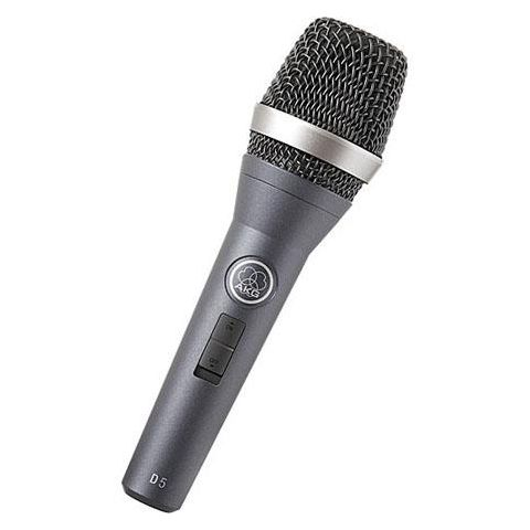AKG Acoustics D5 Supercardioid Handheld Dynamic Vocal Microphone with On/Off Switch, 70Hz-20kHz Frequency Response, =600 Ohms Impedance  by AKG