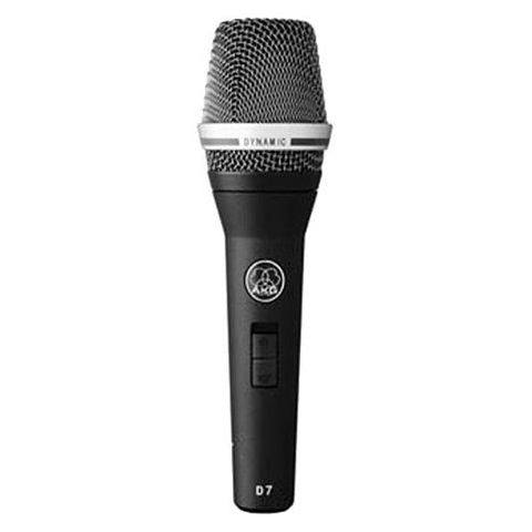 AKG Acoustics D7 Reference Dynamic Vocal Supercardioid Microphone with On/off Switch, 70-20000Hz  by AKG