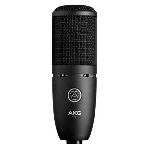 AKG Acoustics Project Studio P120 Medium Diaphragm Cardioid Condenser Microphone, 20Hz-20kHz Frequency Response, Black  by AKG
