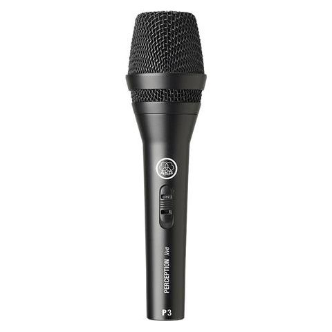 AKG Acoustics P3S Dynamic Rugged Performance Cardioid Microphone for Backing Vocals and Instruments On/Off Switch, 40Hz to 20kHz Frequency Response  by AKG