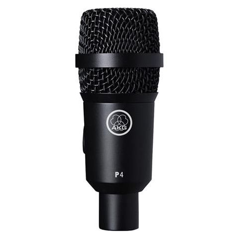 AKG Acoustics P4 Dynamic Instrument Microphone for Drums and Percussions, 20Hz-16kHz Frequency Response  by AKG