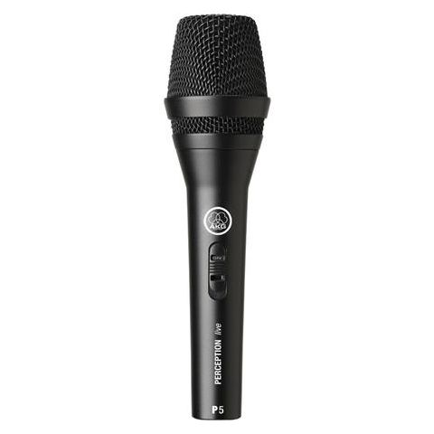 AKG Acoustics P5S Rugged Performance Dynamic Microphone for Lead Vocals with On/Off Switch, 40Hz-20 kHz Frequency Response  by AKG