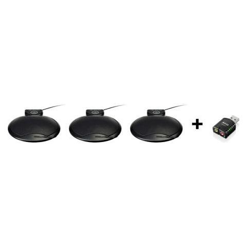 AKG Acoustics 410 PCC Conference Microphone Set, 50Hz to 20kHz Frequency Response, 2000 ohms Impedance, Black  by AKG