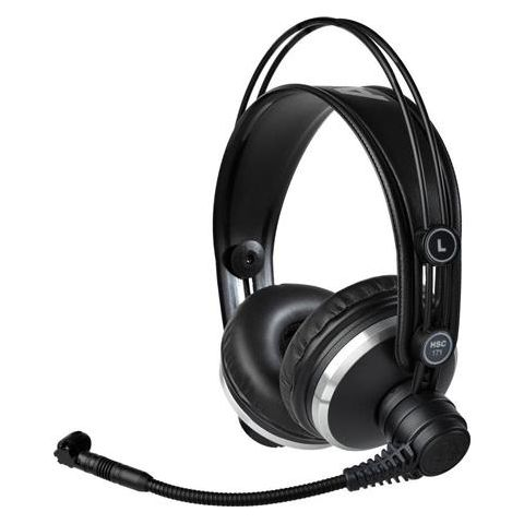 AKG Acoustics HSC171 Headset with Condenser Mic for Recording/Intercom/ENG & EFP/Video Production, 18-26000Hz Headphone, 55 Ohms Rated Impedance, 6-pin Mini-XLR  by AKG