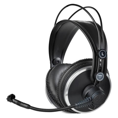 AKG Acoustics HSC271 Professional Headset with Condenser Mic for Intercom/ENG & EFP/Video Production, 16-28000Hz Headphone & 20-20000Hz Mic Frequency  by AKG