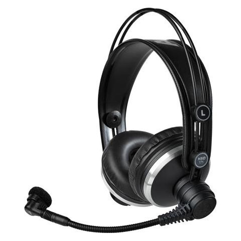 AKG Acoustics HSD171 Professional Headset with Dynamic Mic for Recording/Intercom/ENG & EFP/Video Production, 18-26000Hz Headphone & 60 to 17000Hz Mic Frequency  by AKG