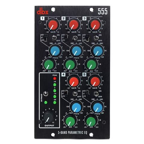 DBX  555 5-Band Parametric Equalizer for 500 Series Module   by DBX