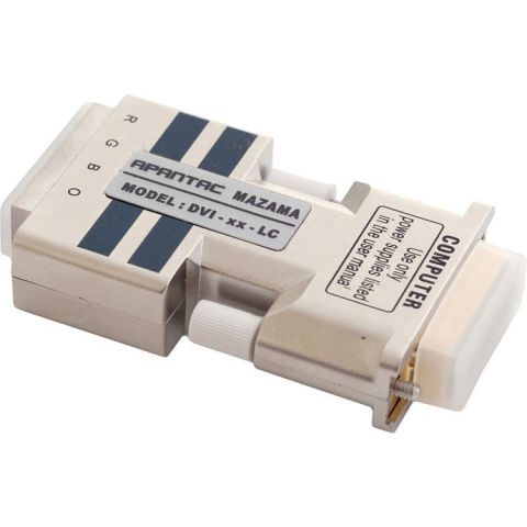 Apantac DVI-XX-LC Single-link DVI-D Extender without 4 LC Type Fiber Optic Cables by Apantac