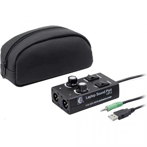 DSAN Corp. LSP-1 Laptop SoundPort 3.5mm Stereo Mini Male to 3-Pin XLR Male In-Line Adapter by DSAN
