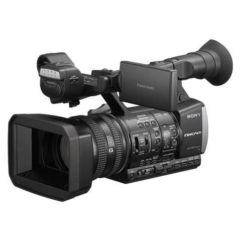 """Sony  HXR-NX3/1 NXCAM Professional Handheld Camcorder with 20x Optical Zoom G Lens, 3x1/2.8"""" Exmor CMOS Sensor, 1080p Resolution, Wi-Fi, USB2.0/HDMI   by Sony"""