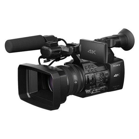Sony  PXW-Z100 4K Handheld XDCAM Camcorder, 4096 x 2160 Resolution, XAVC 4:2:2, G Lens with 20x Optical Zoom, ECM-ZM1 Shotgun Microphone   by Sony