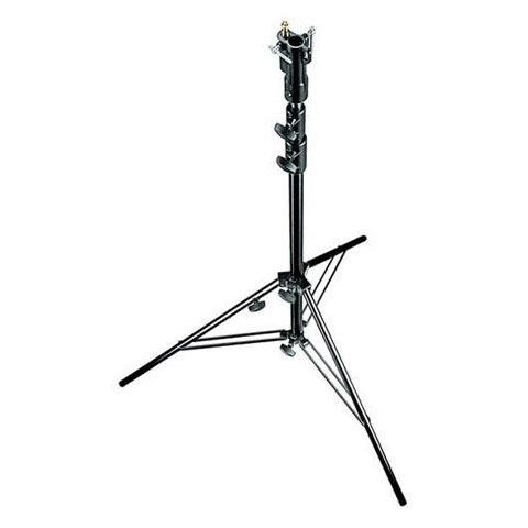 Manfrotto 10.3' Aluminum Cine Lightstand, 3 Section, with Leveling Leg, Black Anodized  by Manfrotto