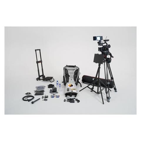 Sony  Video Journalist Backpack Kit with Trolley, Includes PXW-X70 Professional XDCAM Camcorder, UWP-D11 Lavalier Microphone System, Microphone, Headphone   by Sony